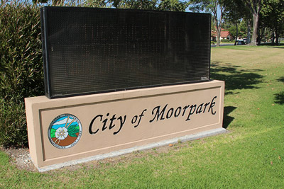 City of Moorpark sign.